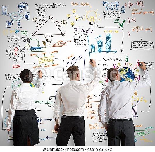 projet, nouveau, collaboration, business - csp19251872