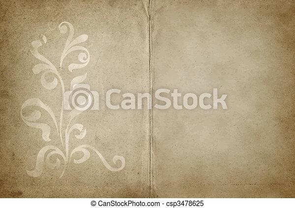 projeto floral, pergaminho - csp3478625