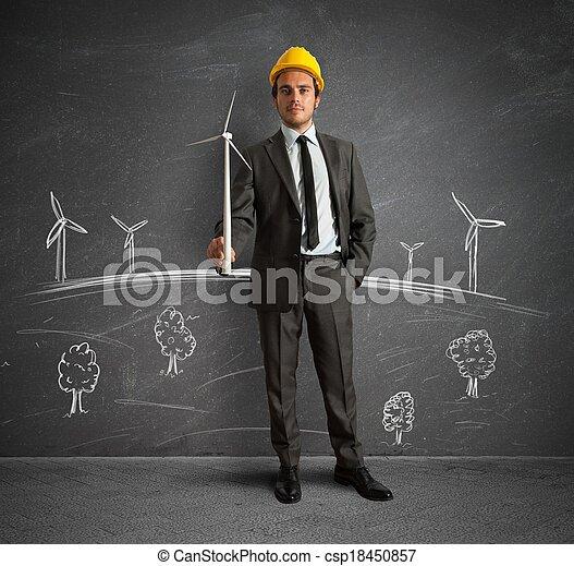 projeto, turbina, energia, vento - csp18450857