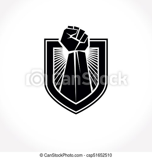 Proletarian Leader Abstract Symbol Vector Red Clenched Fist