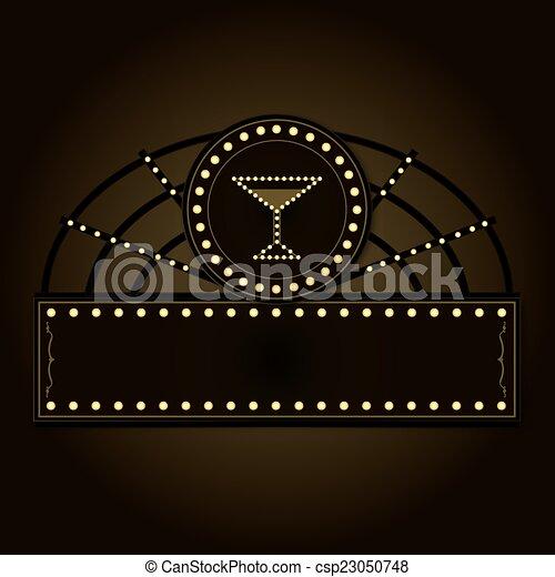 promenade, époque, prohibition, signe - csp23050748