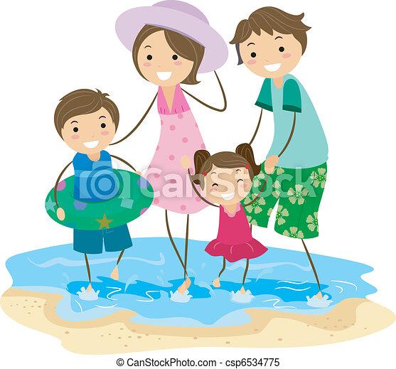 promenade, famille - csp6534775