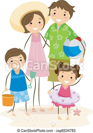 promenade, famille - csp6534783