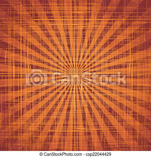 promienie, grunge, słońce, materiał, wektor, texture. - csp22044429