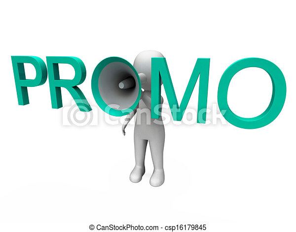 Promo Character Shows Sale Offer And Discounts - csp16179845