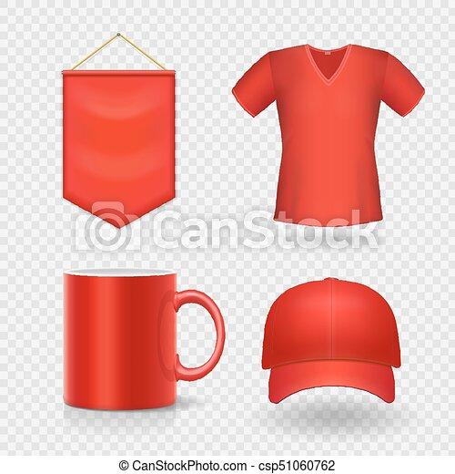 Regalos de identidad rojo promocional en blanco, - csp51060762