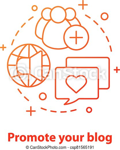 Promote blog concept icon - csp81565191
