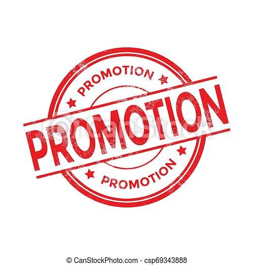 Promotion red round grunge stamp vintage. promotion sign. - csp69343888