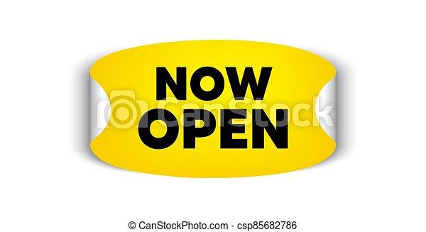 promozione, affari, segno., vettore, open., ora, nuovo - csp85682786