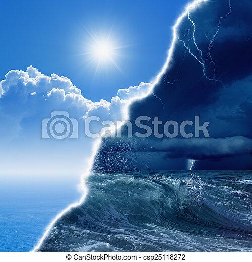 pronóstico meteorológico - csp25118272
