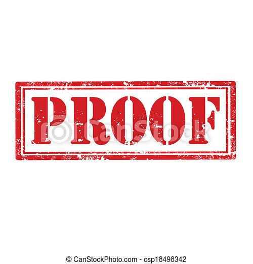 Proof-stamp - csp18498342