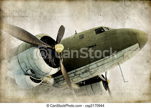 propeller, airplain, retro - csp2170944