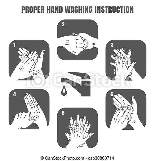 proper hand washing instruction black vector icons set hygiene and rh canstockphoto com hand washing vector free download Praying Hands Vector