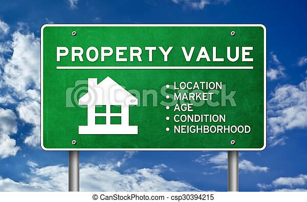 Property Value concept - csp30394215
