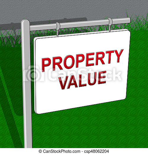 Property Value Indicates House Prices 3d Illustration - csp48062204