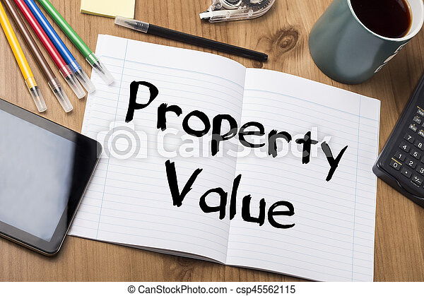 Property Value - Note Pad With Text - csp45562115