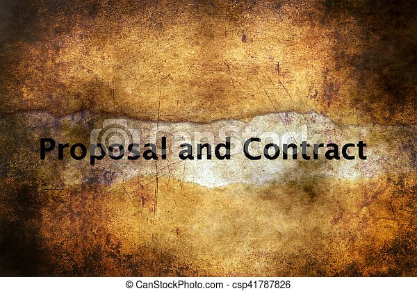 Proposal and contract grunge concept - csp41787826