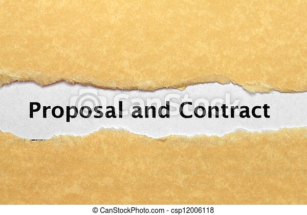 Proposal and contract - csp12006118