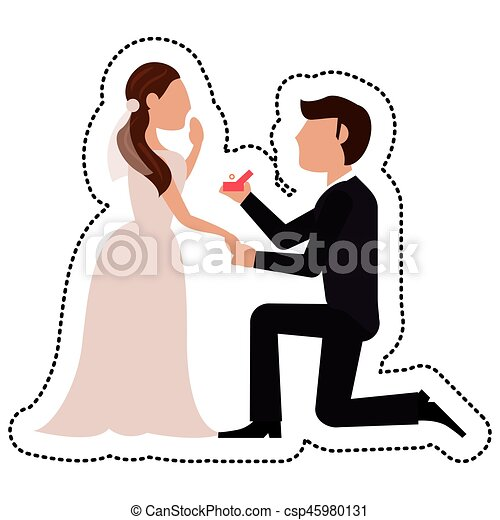 proposal groom bride wedding vector illustration eps 10 vectors rh canstockphoto com wedding vector photoshop free wedding vector free download