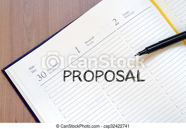 Proposal write on notebook - csp32422741