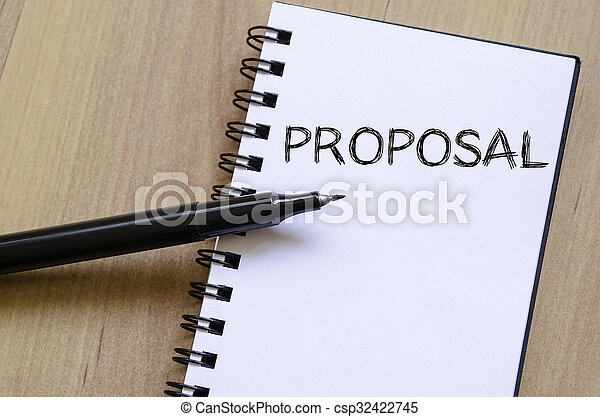 Proposal write on notebook - csp32422745