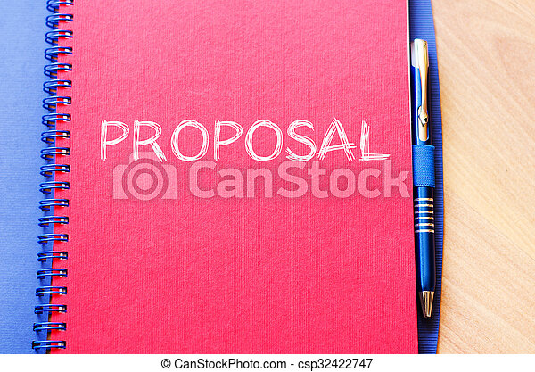 Proposal write on notebook - csp32422747