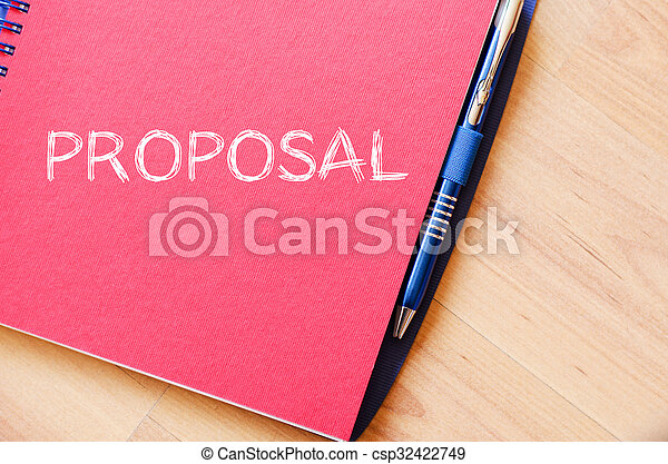 Proposal write on notebook - csp32422749