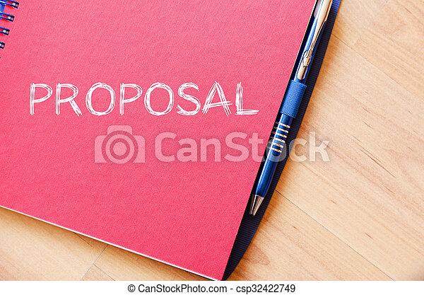 Proposal write on notebook - csp32422749