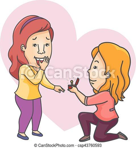 Proposer Couple Filles Lesbienne