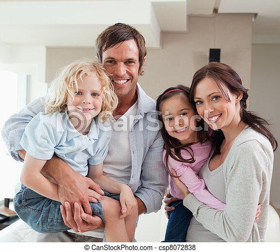 proposta, famiglia, insieme, charmant - csp8072838