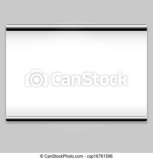propre, blanc écran, fond, projecteur - csp16761596