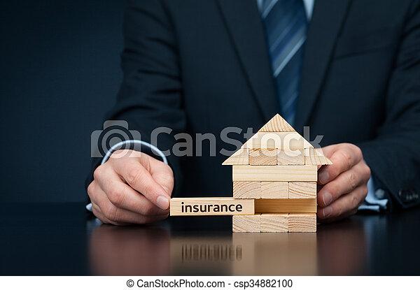 propriété, assurance - csp34882100