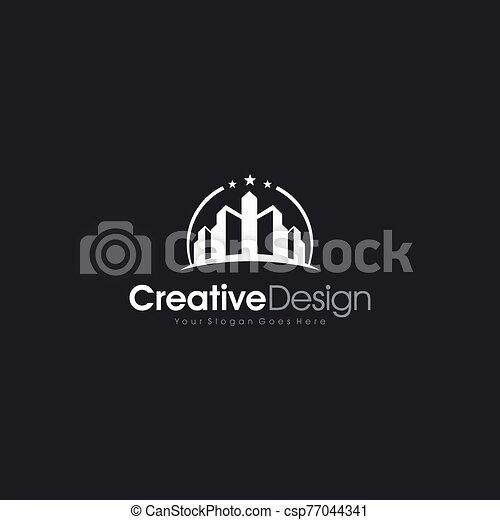proprietà, costruzione, reale, moderno, logotipo - csp77044341