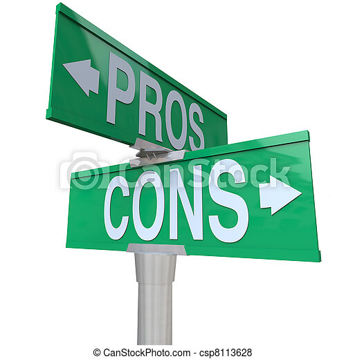 Pros and Cons Two-Way Street Signs Comparing Options - csp8113628
