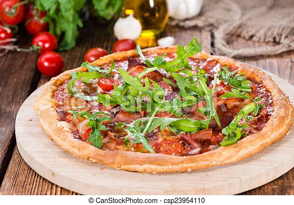 prosciutto, casalingo, pizza - csp23954110