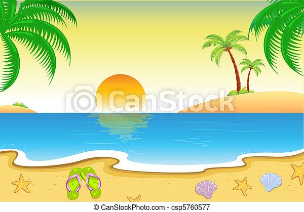 prospekt, plaża, kasownik - csp5760577