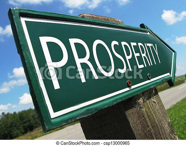 PROSPERITY road sign - csp13000965