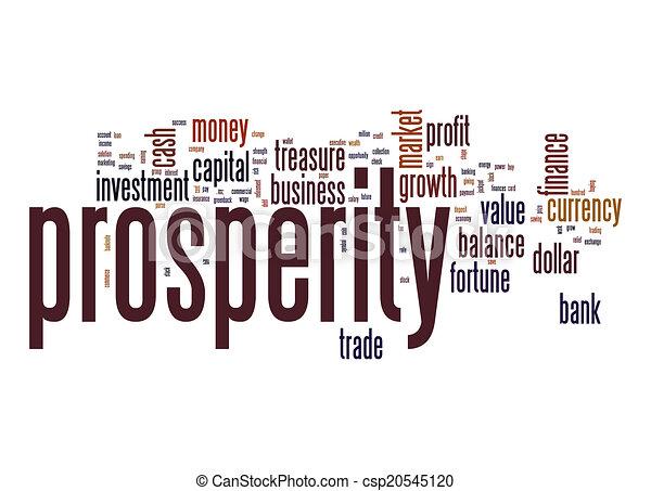 Prosperity word cloud - csp20545120