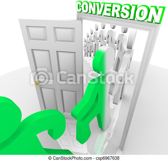 prospettive, persone, clienti, porta, attraverso, convertire - csp6967638