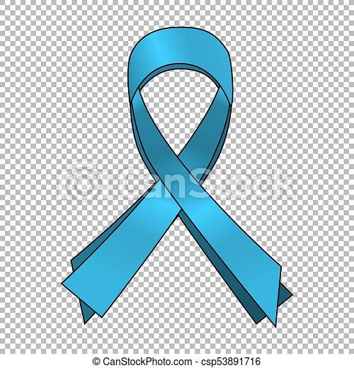 Prostate Cancer Blue Awareness Ribbon Background World Prostate