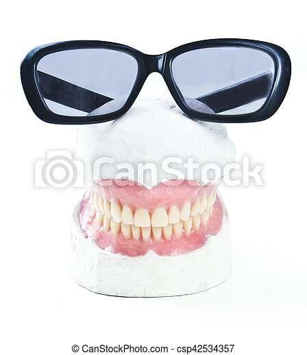 prosthesis with sunglasses - csp42534357