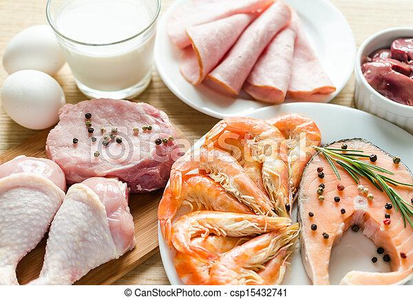 protéine, régime, ingrédients - csp15432741