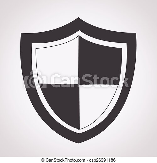 proteção, ícone - csp26391186
