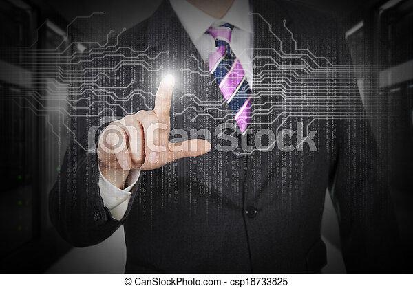 proteção, dados - csp18733825