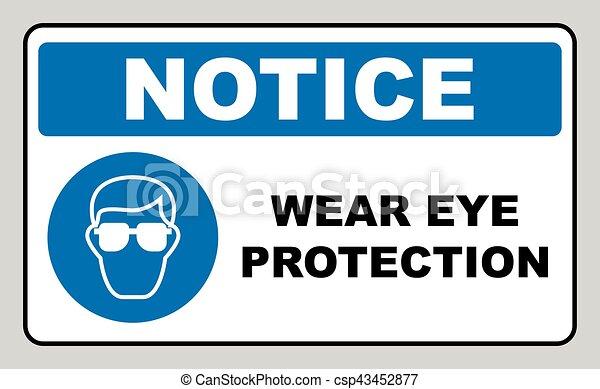 proteção, desgaste olho - csp43452877