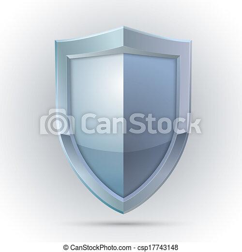 proteção, emblema, escudo, em branco - csp17743148
