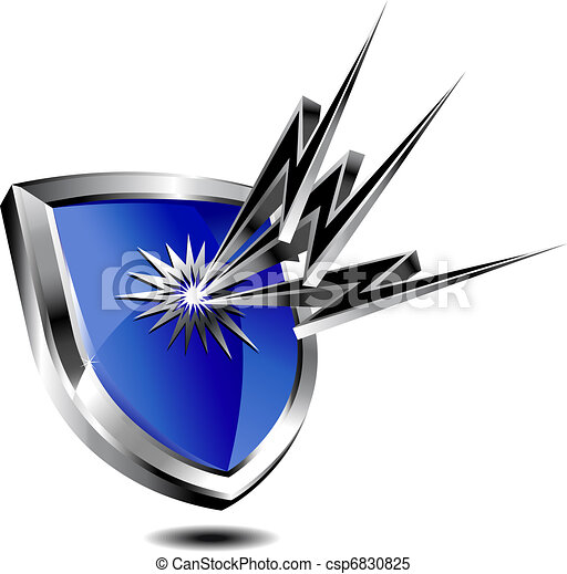 proteção, escudo, relampago - csp6830825
