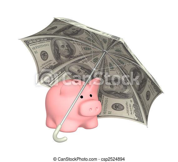 proteção, financeiro - csp2524894