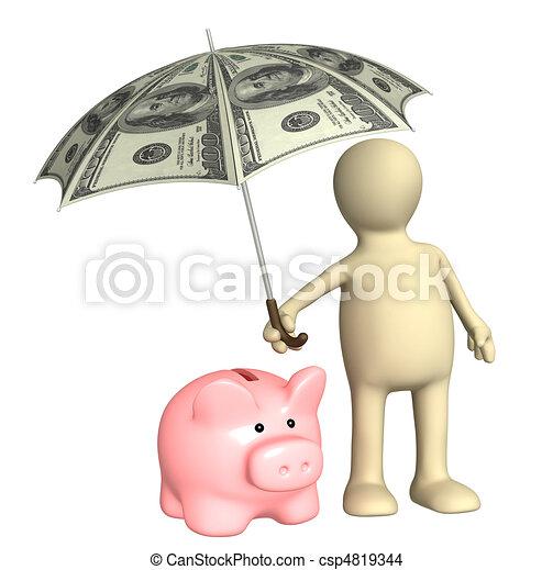 proteção, financeiro - csp4819344