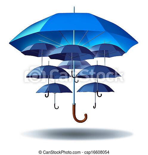 proteção, grupo, negócio - csp16608054